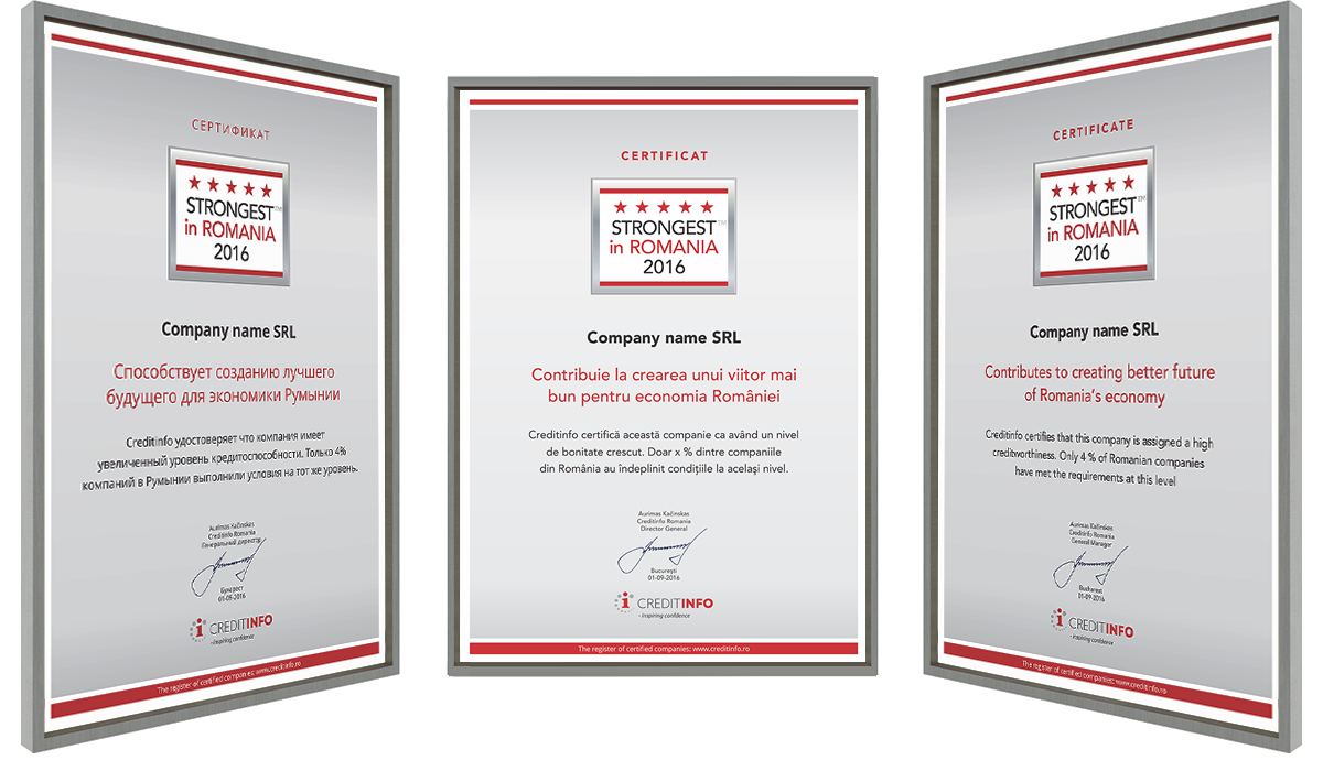 Examples of Certificates 1
