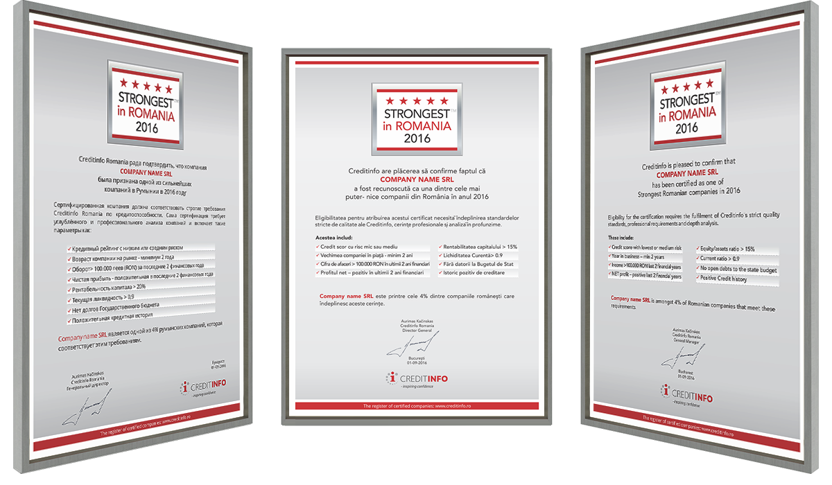 Examples of Certificates 2